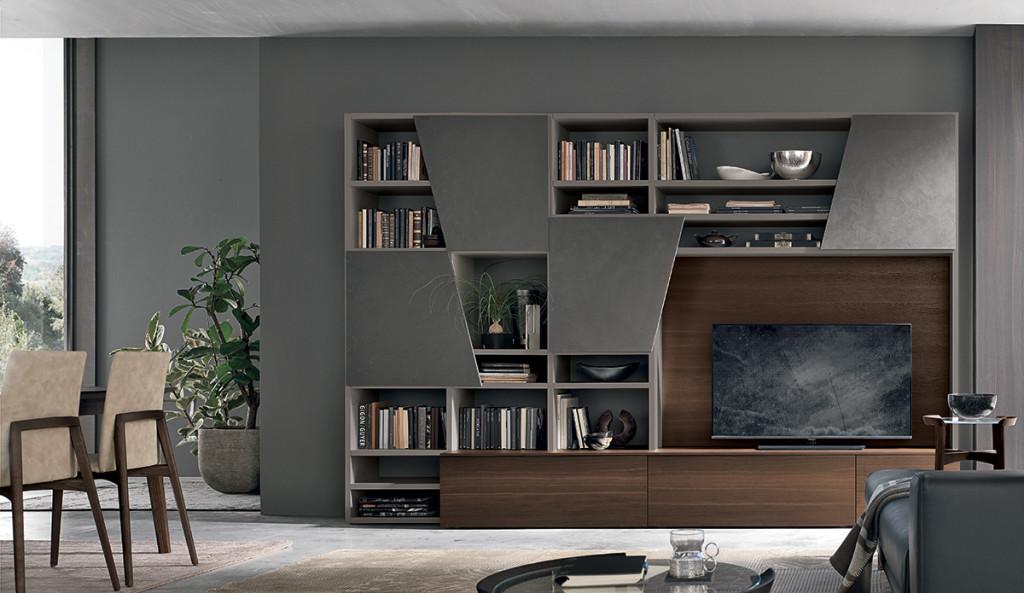Libreria per soggiorno tomasella cogliati arredamenti merate for Mobili di marca